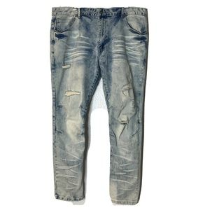 Smokerise Jeans Distressed Blue Size 42 Relaxed